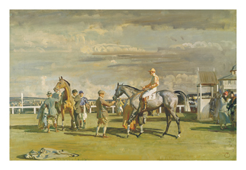 After the Race Fine Art Print by Sir Alfred Munnings