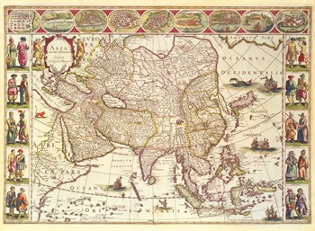 Asia, 1618 Fine Art Print by Willem Janszoon Blaeu