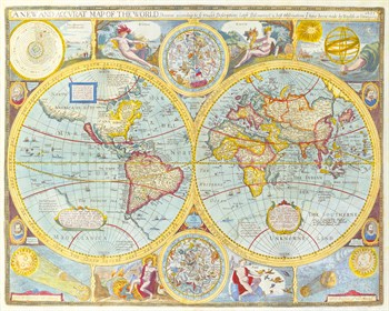 A New and Accurat Map of the World, 1627-1651 Fine Art Print by John Speed