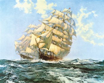 'Ariel' and 'Taeping' Print by Montague Dawson