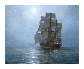 Crescent Moon II Fine Art Print by Montague Dawson