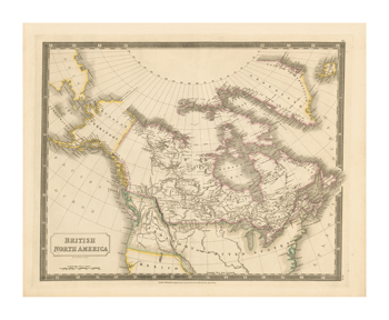 British North America, 1829 Fine Art Print by Sydney Hall