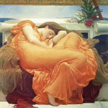 Flaming June Canvas Print by Lord Frederic Leighton