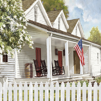 American Porch Canvas Print by Mark Chandon
