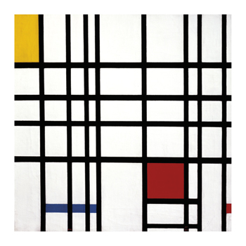 Opposition of Lines: Red and Yellow Fine Art Print by Piet Mondrian