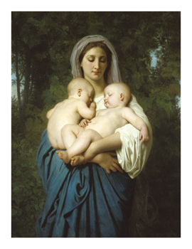 Charity (The Twins) Fine Art Print by William Adolphe Bouguereau