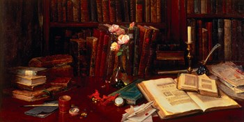 Books Fine Art Print by Catherine Wood
