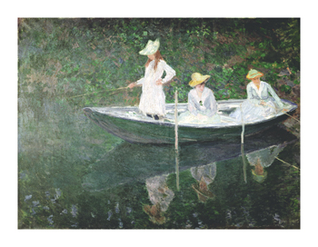 Boating At Giverny Fine Art Print by Claude Monet