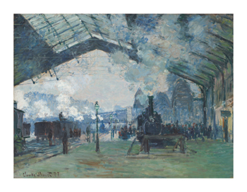 Arrival of the Normandy Train, Gare Saint-Lazare, 1877 Fine Art Print by Claude Monet