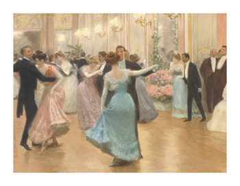 An Elegant Soiree - Review Fine Art Print by Victor Gabriel Gilbert