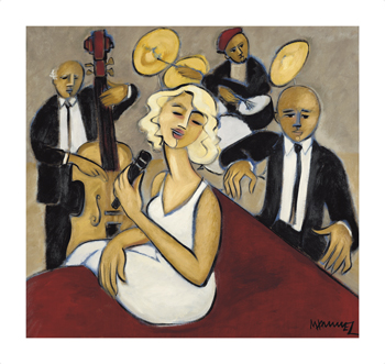 Jazz Ensemble Fine Art Print by Marsha Hammel