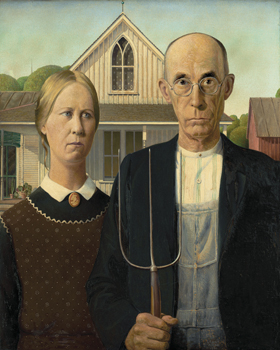 American Gothic Print by Grant Wood