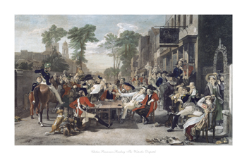 Chelsea Pensioners reading the Waterloo Dispatch Fine Art Print by David Wilkie