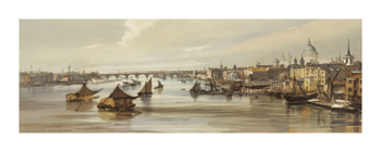 Blackfriars from Southwark Bridge Fine Art Print by Thomas Shotter Boys