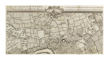 An Exact Survey of Chiswick and Hammersmith, 1745 Fine Art Print by John Rocque