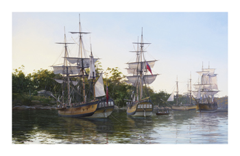 First Fleet Fine Art Print by Steven Dews