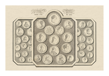 Coins and Medals of the Sovereigns and States of Europe Fine Art Print by 19th Century School