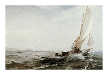 Through Sea and Air Fine Art Print by Charles Napier Hemy