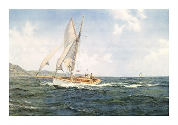 Fine Weather and a Fair Wind Fine Art Print by Montague Dawson