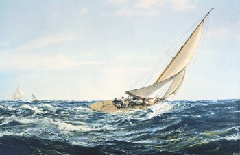 A Winning Tack Fine Art Print by Montague Dawson