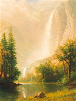 Yosemite Falls Canvas Print by Albert Bierstadt