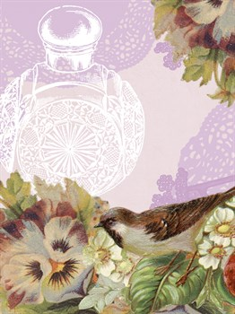Birds and Ornaments VI Print by Clara Wells