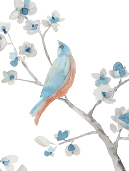 Songbird Melody Print by Sandra Jacobs