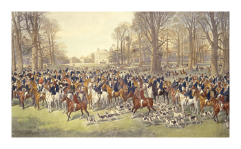 A Lawn Meet at Badminton Fine Art Print by Dickinson Brothers & Foster