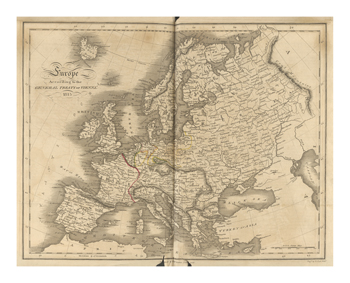 Europe According To The Treaty Of Vienna Fine Art Print by T. Clerk