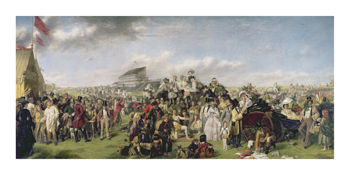Derby Day - Coloured Version Fine Art Print by William Powell Frith