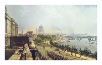 The Embankment from Somerset House Fine Art Print by John O'Connor