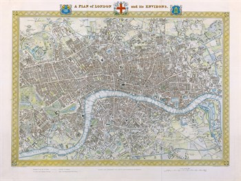 A Plan of London and its Environs, 1831 Fine Art Print by Samuel Lewis