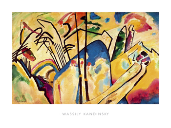 Composition no.4, 1911 Canvas Print by Wassily Kandinsky