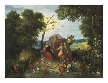 Landscape with Allegories of the Four Elements Fine Art Print by Jan Brueghel the Younger