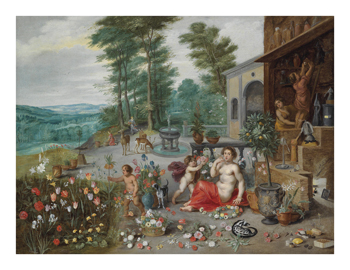 An Allegory of Smell Fine Art Print by Pieter Brueghel the Younger