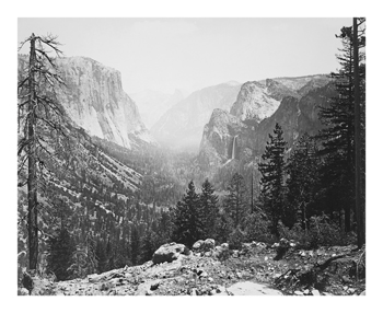 The Yosemite Valley from Inspiration Point Fine Art Print by Carleton E Watkins