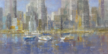 City Bay Print by Longo