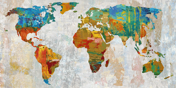 Abstract World Map Print by Paul Duncan