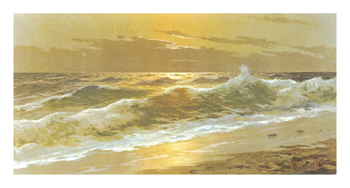 Breakers at Sunset Fine Art Print by Carlo Rossi
