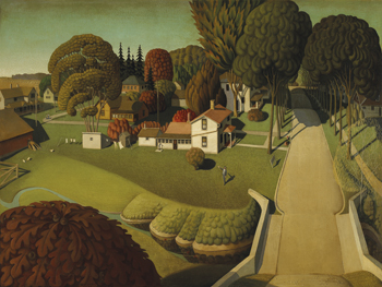 The Birthplace of Herbert Hoover, West Branch, Iowa, 1931 Canvas Print by Grant Wood