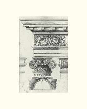 English Architectural I Print by The Vintage Collection