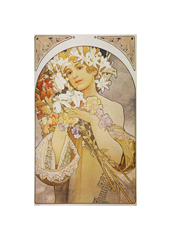Flower: Final Study for Decorative Panel, 1897 Fine Art Print by Alphonse Mucha