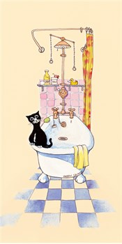 Basil In The Bathroom IV Print by Harry Caunce