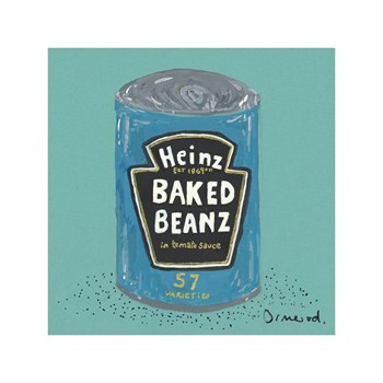 Baked Beans Print by Clare Ormerod