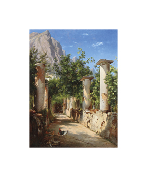 An Ancient Colonnade, Italy Fine Art Print by Carl Frederic Aagaard