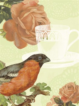 Birds and Ornaments I Print by Clara Wells