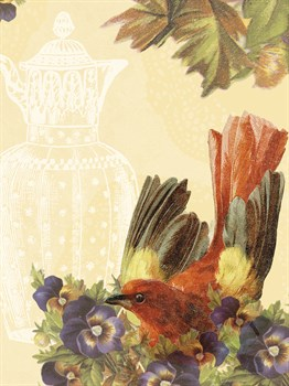 Birds and Ornaments II Print by Clara Wells