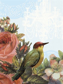 Birds and Ornaments IV Print by Clara Wells
