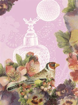 Birds and Ornaments V Print by Clara Wells