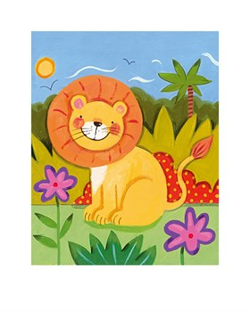 Baby Lion Print by Sophie Harding